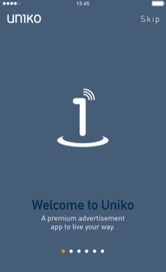 Mobile App Welcome Screen